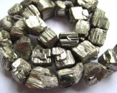 wholesale bulk 15-20mm 2strands genuine pyrite  beads,  nuggets freeform squaredelle  faceted  irregular gold iron  beads