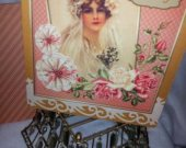 Vintage Bride Wedding Card