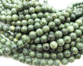 "wholesale 10mm genuine serpentine stone round ball olive green jewelry beads --5strands 16""/L"