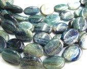 genuine kyanite beads 15x20mm full strand 16inch ,high quality  oval egg blue jewelry beads