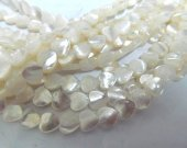 Top quality 8mm genuine MOP shell bead hearts jewelry beads--2strands 16inch/L