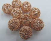 off 20% --10mm 12pcs AA grade pave metal spacer &cubic zirconia crysatl  rose gold mixed jewelry beads