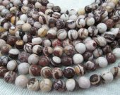 "batch 12mm round ball Australian zebra jasper genuine semi gemstone --5strands 16""/L"