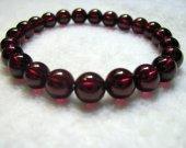 genuine garnet rhodolite  beads 8mm 24pcs ,high quality round ball rose red jewelry beads bracelete