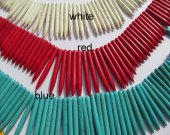 wholesale turquoise gemstone sharp spikes bar  purple red assortment jewelry  necklace 20-50mm--5strands