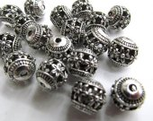 high quality lot 6mm 100pcs vitiage Bail filigree finding metal round ball charm earring jewelry finding beaded