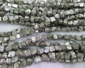 wholesale bulk 6-10mm 10strands genuine pyrite  beads,  nuggets freeform squaredelle  irregular gold iron  beads