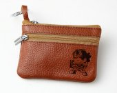 One Piece Usopp Leather Zippered Coin Bag Key Pouch