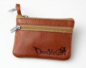 Devil May Cry Leather Zippered Coin Bag Key Pouch