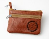 Metroid Leather Zippered Coin Bag Key Pouch