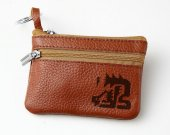 Monster Hunter Nargacuga Leather Zippered Coin Bag Key Pouch