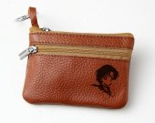 Sailor Moon Mercury Leather Zippered Coin Bag Key Pouch