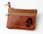 Sailor Saturn Leather Zippered Coin Bag Key Pouch