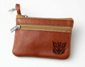 Transformers Decepticon Leather Zippered Coin Bag Key Pouch