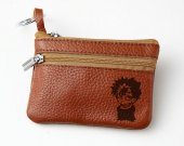 Yu Yu Hakusho HIEI Leather Zippered Coin Bag Key Pouch