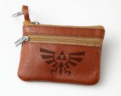Zelda Leather Zippered Coin Bag Key Pouch