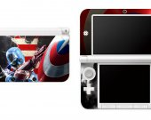 Captain America  Nintendo 3DS XL LL Vinyl Skin Decal Sticker