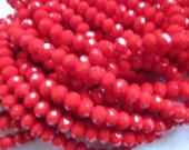 10strands 3x4 4x6 5x8 6x10mm crystal like swarovski bead rondelle abacus  faceted crimson carmine  red blue jewelry bead