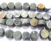 wholesale 10mm 20pcs  Calibrated Druzy Cabochon round dark gilltery blue assortment  jewelry  charm bead