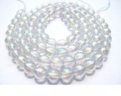 wholesale mystic AB  white quartz beads, 4mm 5strands 16inch strand,round ball crystal gorgeous jewelry beads