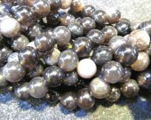 fashion bulk genuine rainbow obsidian with crystal  round ball grey    jewelry beads 14mm --5strands 16inch/L