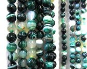 5strands 4 6 8 10 12 14 16mm high quality  agate gemstone  round ball green  veins crab matte  jewelry  beads