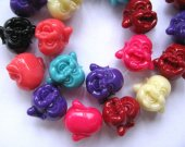 120pcs20mm gergous acrylic resin plastic --buddha cabachons multicolor jewelry beadS