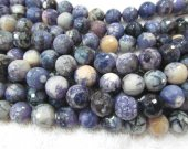 wholesale gergous fire agate  gemstone  round ball faceted purple black assortment jewelry beads 10mm --5strands 16inch