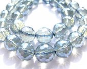 high quality blue quartz beads, 12mm 5strands 16inch strand,round ball faceted royal crystal gergous jewelry beads