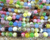 fashion 5stradns 4-16mm gorgeous agate  gemstone  round ball faceted crab assortment jewelry beads