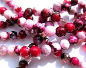 lot fire agate gemstone round ball  crimson red  multicolor  jewelry  beads 10mm--5strands 16inch/per strand