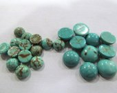 wholesale 8mm 10mm 150pcs cabochons turquoise roundel  green blue veins jewelry beads