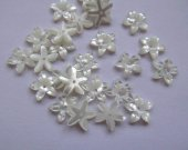 high quality  8mm 50pcs MOP shell mother of pearl floral flowers petal  cup wite cabochons beads