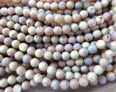 high quality 5strands 8-14mm   agate gemstone  round ball crystal rock matt crab  handmade peach pink purple  assortment  jewelry bead