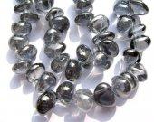 genuine rock crysal quartz 6-8mm 2strands 16inch strand,freeform chips branch grey gray jewelry beads