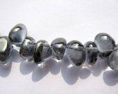 genuine rock crysal quartz 8-12mm 2strands 16inch strand,freeform chips branch grey gray jewelry beads