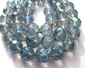 genuine rock crysal quartz 10mm 5strands 16inch strand,high quality round ball faceted blue jewelry beads