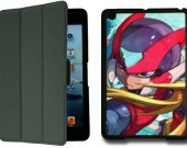 Megaman Zero IPad Mini 1 Black Protective Fold Smart Cover Case