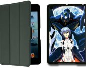 Neon Genesis Evangelion rei IPad Mini 1 Black Protective Fold Smart Cover Case