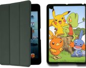 Pokemon IPad Mini 1 Black Protective Fold Smart Cover Case