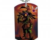 """Zelda Skull Kid Majora""""s Mask Dog Tag Pendant Necklace"""