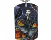 Nightmare Before Christmas  Dog Tag Pendant Necklace