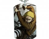 Attack on Titan Reiner Braun  Dog Tag Pendant Necklace
