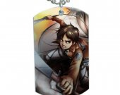 Attack on Titan Eren Yeager  Dog Tag Pendant Necklace