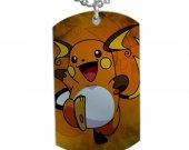 Pokemon Raichu Dog Tag Pendant Necklace