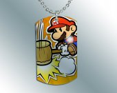 Paper Mario Dog Tag Pendant Necklace