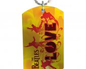 The beatles Love  Dog Tag Pendant Necklace