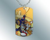 SONIC THE HEDGEHOG Tails Dog Tag Pendant Necklace #2