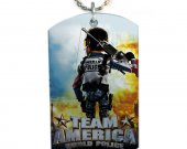 TEAM AMERICA World Police Dog Tag Pendant Necklace