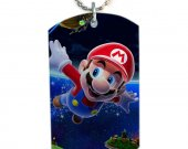 Mario Dog Tag Pendant Necklace